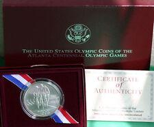 1995 Olympics Cycling BU Silver Dollar Commemorative Coin Box + COA US Mint Bike