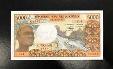 CONGO REPUBLIC-5000 FRANCS-1978-PICK 4c , SCARCE , UNC .