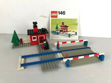 LEGO VINTAGE TRAIN 146 Level Crossing COMPLET + instruction 1976