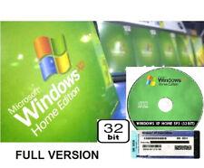 Windows XP Home 32 bit CD DIsc Full Version COA SP3 License Product Key Edition