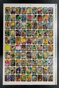 38x25 PRE-PRODUCTION PROOF MARVEL COLOSSAL CONFLICTS 2 UNCUT SHEET CARD SET 1987