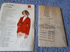 Vintage 1970s Silver Needles sewing pattern No: 54 Lady's blazer uncut