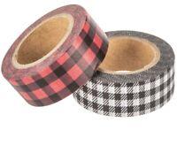 2 Rolls Buffalo Plaid Check Washi Tape Decorative Planner Papercraft Bujo
