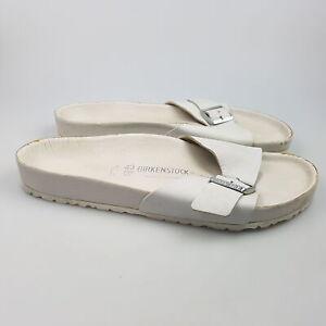 Men's BIRKENSTOCK 'Madrid' Sz 10 Sandals Grey GCon Leather   3+ Extra 10% Off