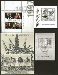 Denmark - 4 Very Fine Sheets - Cancelled