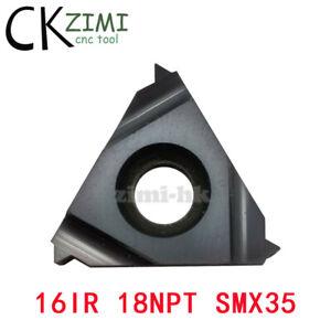 10Pcs 16IR 18NPT SMX35 TPI:18 CNC Internal Threading Insert,For Stainless steel