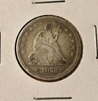 1873 Seated Liberty Quarter (Very Fine++) Silver