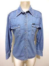 WRANGLER Camicia Donna Jeans Texas Western Woman Denim Shirt Sz.S - 42