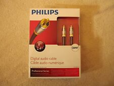 *NEW IN BOX* Phillips Digital Audio Cable Professional Series HDTV 2.4m 8'