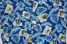 REYN SPOONER Hawaiian Shirt Disney Mickey Mouse Donald Duck Sports 100% Rayon XL