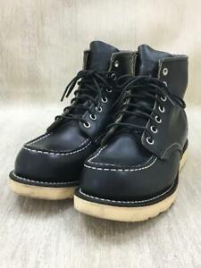 RED WING 6 Inches Lace-Up 25cm Leather 9075 Black Size 25cm Boots