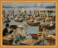 An der Alster in Hamburg Impressionismus 1910 Hafen Max Liebermann Kunst A1 104