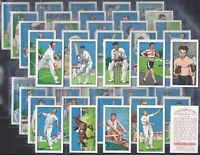 GALLAHER-FULL SET- CHAMPIONS (2ND SERIES 48 CARDS) DON BRADMAN - EXC