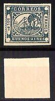 Argentina - 1858 - Buenos Aires - Dos Pesos - non dentellato