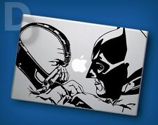 Batman and Bane Fight Macbook decal Apple Laptop sticker / tattoo stencil decal