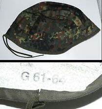 F   NEUF: Couvre casque flecktarn réversible blanc allemand / Taille 61/64