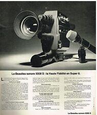 Publicité Advertising 1975 La camera Beaulieu Sonore 5008 S