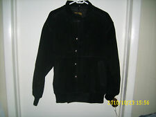 NEW BLACK  KING COAT GENUINE SUEDE LEATHER