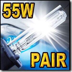 55W 9006 6000K HID Headlight Bulbs For Low Beam