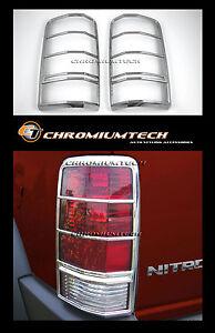 2007-2012 Dodge Nitro CHROME Tail Light Rear Light Surround Guard CRD SXT