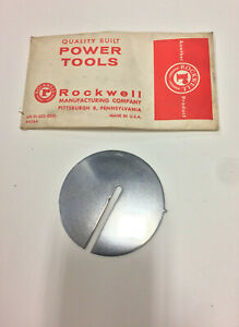 """Rockwell/Delta 20"""" Bandsaw Custom Replacement Throat Plate"""