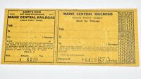 Vintage Maine Central Railroad Ticket Coach Party Ticket SM2A