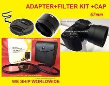LENS ADAPTER +FILTER KIT+CAP 67mm FOR CAMERA NIKON COOLPIX L320 L 320  67 mm