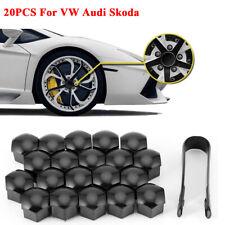 20pcs 17mm Wheel Lug Nut Bolt Center Cover Gray Caps and Tool For VW Audi Skoda