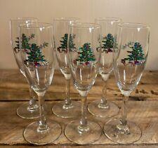 Luminarc Christmas Wine Glasses Fluted Tall Set of 6 - X-Mas Tree & Presents