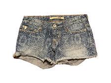 BIG STAR Jeans Shorts Cut Off Medium Wash Cotton Size 24