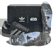 "Star Wars x adidas Gazelle black size 8 9 10 11 12 Mandolorian ""Darksaber"" new"