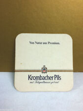 Beer coaster bar coasters 1 Krombacher Pils Von Natu Aus premium import bier AQ4
