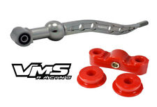 SILVER VMS RACING SHORT THROW SHIFTER F+R POLYURETHANE BUSHINGS FOR HONDA CIVIC