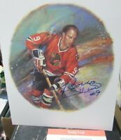 Bobby Hull Chicago Blackhawks Canada Post Stamp Lithograph Print Signed Auto*