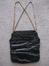Judith Leiber Snake Crocodile Rose Gold and Silver Chain Strap Purse Bag AMAZING