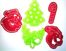 Xmas Stencils  --Party Favor Loot  Birthday Toys Prizes  Santa Reindeer Tree