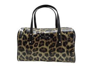 Kate Spade New York Raina Satchel Handbag + Shoulder Strap Leopard New! NWT