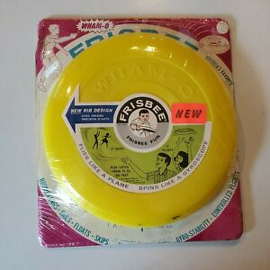 Vintage 70's WHAM-O Frisbee Yellow NOS 1967 Stock No. 132 New Sealed Retro Fun
