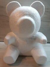 Polystyrene Styrofoam White Foam Bear 25 cm teddy bear