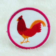 2PCS Rooster Embroidery Sew Iron On Patch Badge Clothes Fabric Applique patches
