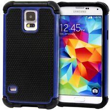 Housses et coques anti-chocs bleu en silicone, caoutchouc, gel pour téléphone mobile et assistant personnel (PDA) Samsung