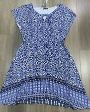 Ladies size 16 AUTOGRAPH Blue Waisted Summer dress *NEW* RRP $99.99