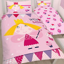 Ben & Holly Cupcakes Single Panel Duvet Cover Bed Set Official New Gift