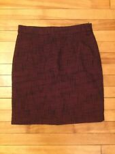 Tulle Navy & Red Checkered Tweed Skirt With Pockets, Size M, NWT!