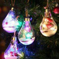LED Christmas Tree Drop Ornaments Xmas Hanging Pendant Home Decor Party Kid Gift