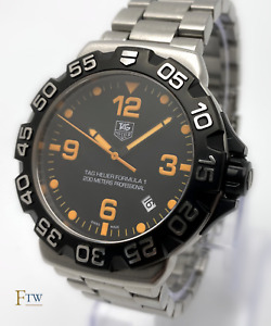 Tag Heuer Formula 1 One Gents Watch WAH1116 41mm Black/Orange Rare Box/Papers