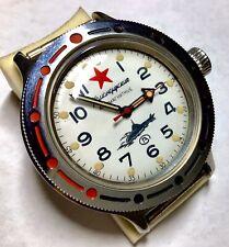 New listing Soviet Ussr Vostok Komandirskie Amphibian Submarine Antimagnetic Watch Nos 62Mas