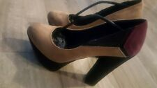 Made in Italia Platform Pumps multi color Suede  Size 38