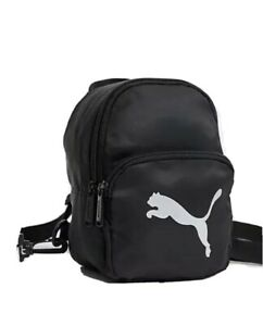 Puma mini backpack in black with silver logo free shipping  ⭐⭐⭐⭐⭐🥰and fast