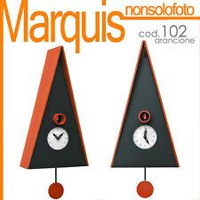 "orologio a cucù art.102 ""Norimberga""nero/arancio Pirondini Italia Time Marquis"